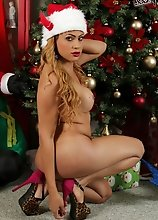Get cozy with Venus by the Christmas tree at Shemale.XXX! Enjoy this is a sneak-preview of her holiday set that will go live on December 20, 2013!