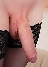 Watch slim tgirl Ella Venus having a lot of fun stroking her big dick and posing in this hot solo scene!