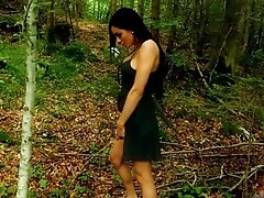 Hot Kimber pees & strips in woods