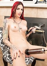 Chelsea Marie is a sexy tgirl with a hot body, big boobs, a firm ass and a big cock! Watch as she uses her penis pump to make her cock even bigger!