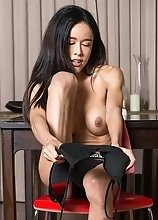 Nikki's cock is served on the dinign table ready for you to give it a good licking