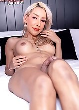 Ladyboy Kwang has a nice face, silicone ass, beautiful long legs, and a nice hard cock. This 31-year-old beauty will set your pants on fire today!