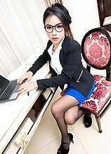 Ladyboy Tata - Office Slut Plugged and Creampied