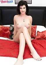 Gorgeous Kendall Penny can't wait to pull out her cock and start playing with it! Watch her stroking it until she cums!