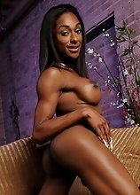 Ebony hottie Natalia Coxxx exposing her goodies