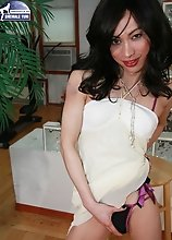 Juliet is very cute and friendly and only just started cross dressing. She has a great look already and is going to develop into a real beauty. Her co