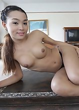 22yo sweet Thai ladyboy takes white dick in the ass