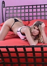 Long-legged tgirl Angelina seducing