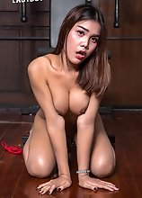 Beautiful ladyboy Amy has has an amazing body, nice legs and huge tits. Watch her getting naughty in this hot solo scene!